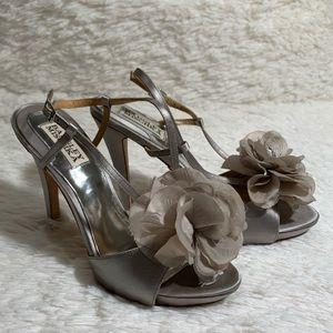 Badgley Mischka • Zabrina Flower Sandal Heels